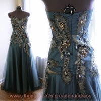Cheap Reference Images evening gowns Best Sweetheart Crepe prom dress