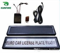 automatic car controls - European Russian car Flip License Plate Frame with remote control car licence frame cover plate AUTOMATIC TURN revolving