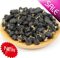 Wholesale Qaidam black Chinese wolfberry dried fruit berries pure certified organic Medlar healthy berries pure goji berry best food