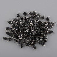 Cheap Useful 100PCS Mini 6x6x5mm DIP Through-Hole 4pin Tactile Push Button Switch Momentary Free Shipping