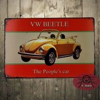 advertising car magnets - VW Beetle The People s car Metal Tin Advertising Sign Magnet Garage Classic Car Sign