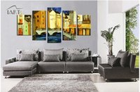 abstract paintings association - New style handpainted art brief abstract decoration oil painting living room studio five association combinations oil painting