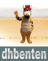 bowser costume - LAI1763 Cute Yellow Super Mario Bros King Bowser Koopa Mascot Costume Dragon Turtle With Red Eyebrows Mascotte Adult No Free Ship
