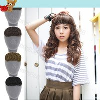 Wholesale New Korean Women s Clip In Bang Fringe Hairpiece Hair Extension Body Wavy Colors