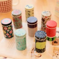 household items - 8 Storage Tin Box Zakka organizer Small decorative tins box Flowers design item containers gift Novelty households