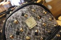 Wholesale NEW Korean MCM fashion backpacks full rivets elements fashion backpack shoulders