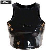 glam - I Glam Zipper Bustier PVC Brassiere Black FE