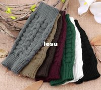 Wholesale Unisex Knitted Fingerless Winter Gloves Soft Warm Mitten
