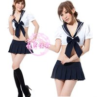 adult school wear - Sexy underwear set pure student school wear clothes game uniforms temptation hot lingerie sexy porn costume adult cosplay donna