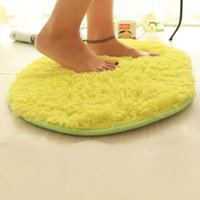 Wholesale 40 cm Yellow Floor Carpets Soft Fleece Kitchen Bath Mats Absorbent Non slip Mat