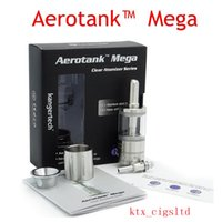 Cheap NEW generation dual coil Aerotank Mega atomizer vaporizer Aero Tank Mega Clearomizer with Upgraded BDC Dual Coil for box mods variable Wt