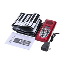 Wholesale Portable Standard Keys Electronic Piano MIDI Roll Up Piano Silicone Rubber Soft Keyboard Piano with LCD Display