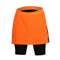 Wholesale new desgin women s cycling pants with skirt three colors orange red green biking shorts with zippered inside pocket drop shipping accepted