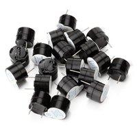 Wholesale 20Pcs V Continuous Sound Piezo Buzzers Fit For Computers Printers V Mini Magnetic Active Buzzer Alarm Ringer