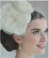 accent accessories - 2015 High Quality Tulle Birdcage Bridal Veils Wedding Hairs Accessories Handmade Flower Lace Accents Wedding Veils