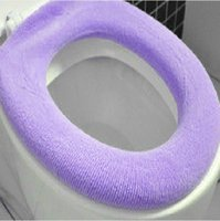 Wholesale Warmer Toilet Washable Cloth Seat Cover Pads Lycra Use In O shaped Flush Toilet