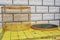 bamboo wicker - Customize handmade bamboo bird cage line small wicker basket red eye cage small round cage