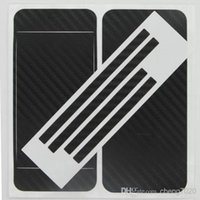 Wholesale 3D Carbon Fiber Skin Full Body Sticker film Guard protective Sticker for Apple Iphone S iphone s