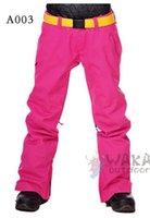 Wholesale Women Ski Pants Candy Color Fabric Woman Snowboard Winter Outwear Cotton padded Waterproof windproof Polyester Zipper