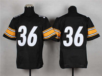Cheap #36 Black Elite American Football New Jersey 2014 Top Sellers Brand Embroidery Sports Jersey High Quality Cheap Mens Jersey Fast Shipment