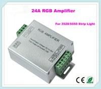 Wholesale LED RGB Power Amplifier Professional input V V A For RGB Led Strip Power Repeater Console Controller