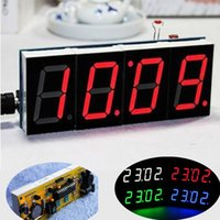 Wholesale 2015 Hot Sale DIY Digit Electronic Large Screen LED Clock Kit Red Blue Green Color LED Kit