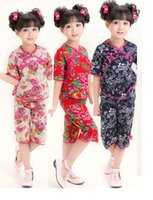 Wholesale Cute Girls clothing set Kids Chinese chi pao cheongsam New Year gift Party Children s Clothes Robe Baby Qipao suit