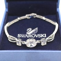 Wholesale New Luxurious Diamond Bracelet Silver Hollowing Bangle Bracelet With White silver Plated for women jewelry