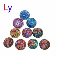 ceramic beads flower - 12pcs Inlaid Crystal Rhinestone Fimo Noosa Chunks DIY Ginger Snaps Interchangeable Jewelry Personalized mm Snap Button Accessories AC063