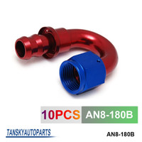 Wholesale TANSKY AN AN8 Degree Push On Fuel Hose End Car Fittings to Barb Adaptor AN8 B