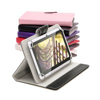 Wholesale US Stock Inch Tablet Cover Case PU Leather Foldable Folding Folio Wallet Shape Cases for Inch Tablet PC