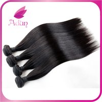 Wholesale Sale Top Fashion A Indian Virgin Hair Indian Straight Wave Virgin Hair Products Unprocessed Human Extension Weave Hair weaves
