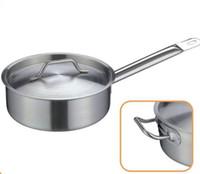 Wholesale stainless steel hot pot soup pot skillet pot bottom large soup pot