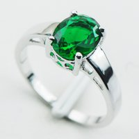 Wholesale Emerald Sterling Silver Ring Size PR03
