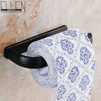 Wholesale Black widespread toilet paper holder soild brass oil rubbed bronze toilet roll holder bathroom accessories