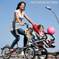 baby jogging strollers - For Twins Bike Baby Stroller Combo Free Transform Multifunctional Carrier The Jogging Stroller for City Kids