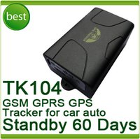 Cheap Free Shipping Quad band Car Vehicle GSM GPRS GPS Tracker TK104 Waterproof Magnet 60days Long Standby Time
