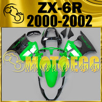 Wholesale Five Gifts Motoegg Injection Mold Plastic Fairings Complete Set For Kawasaki Ninja ZX R ZX R ZX6R Black Green K60M41