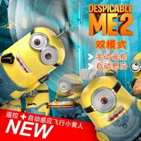 rc control robot - Flying Toys Infrared Induction Control RC Helicopter Despicable Me Flying Balls Best Gift for Children
