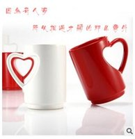 Wholesale Heart Shaped Ceramic Kettle and Mug Set Decorative Porcelain Drinking Cups and Pot Drinkware Lovers Gift and Craft Ornament TOP1062