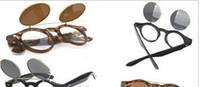 500pcs lot + 50s Vintage Retro Steampunk Gafas tirón encima de la Ronda de Cyber Goggles Gafas de sol (GX14) Envío gratuito