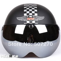 abs grating - A NEW ABS portable type Scooter Casco Half Face Helm Motorcycle Matt Black grating Helmet amp UV Lens Adult M L XL