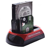 sata docking station - 2 quot quot SATA IDE HDD Hard Disk Drive twin Docking Station USB HUB Reader External HDD Enclosure