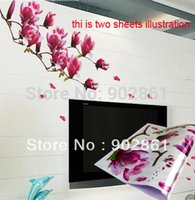 adult wall murals - funlife x70cm x28in Purple Magnolia Flower adult living Room MURAL ART WALL PAPER STICKER