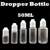Wholesale Empty PET ML Plastic Dropper Bottles With Childproof Cap With Long Thin Tip For EGO Series cigarette Liquid