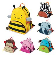Wholesale Newest Baby Girls Boys Cartoon Schoolbag Children The Travelling Backpack Shoulder Bag Bee Cow Monkey Dogs For Kids Cheap