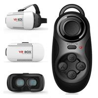 Wholesale Professional VR BOX Google andriod Cardboard Original Virtual Reality Head mounted D Glasses Case Phone Bluetooth Controller Gamepad