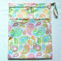 Wholesale 1 New Design Wet Dry Bag With Two Zippered Baby Diaper Bag Nappy Bag Waterproof Reusable Colorful Paisley