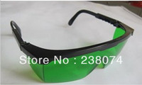 Wholesale nm nm nm resin Laser Safety Glasses Eye Protection glass goggles green Lens box