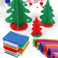 Wholesale New Arrivals set Non woven Felt Fabrics Polyester Cloth Kids DIY Christmas Crafts Home Arts Decoration X21cm JL1